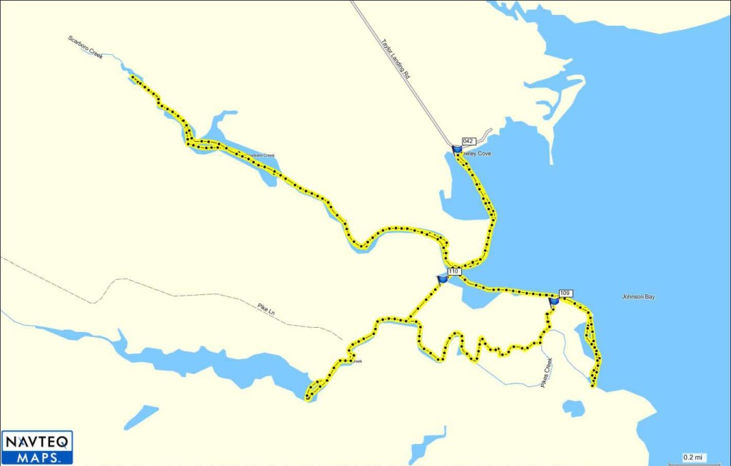 GPS Map Scarboro & Pikes Creek