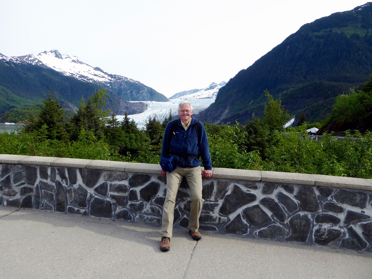 20160520_1257_Randy at Mendenhall Glacier Overlook