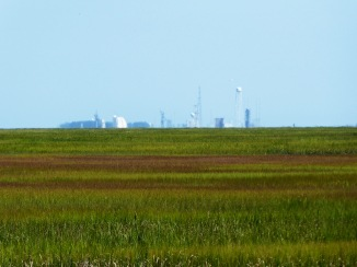 NASA facilities at Wallops Island in distance
