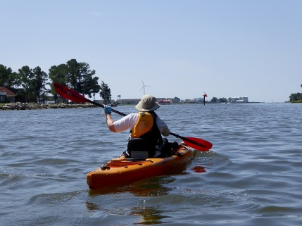 Paddling toward Crisfield