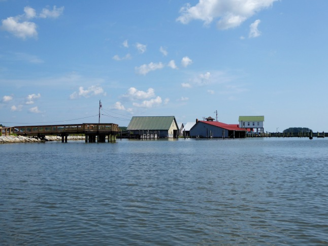 View of buildings as we leave Taylor's Landing