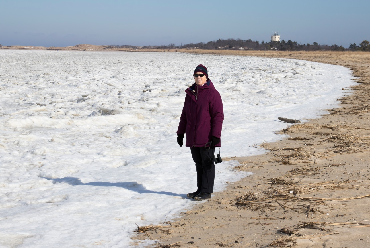 20180109_124056_Judy with the Delaware Bay Pilot's Tower in the background