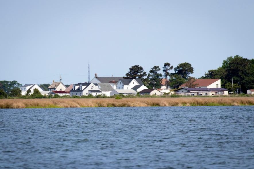 Approaching Tylerton by Boat
