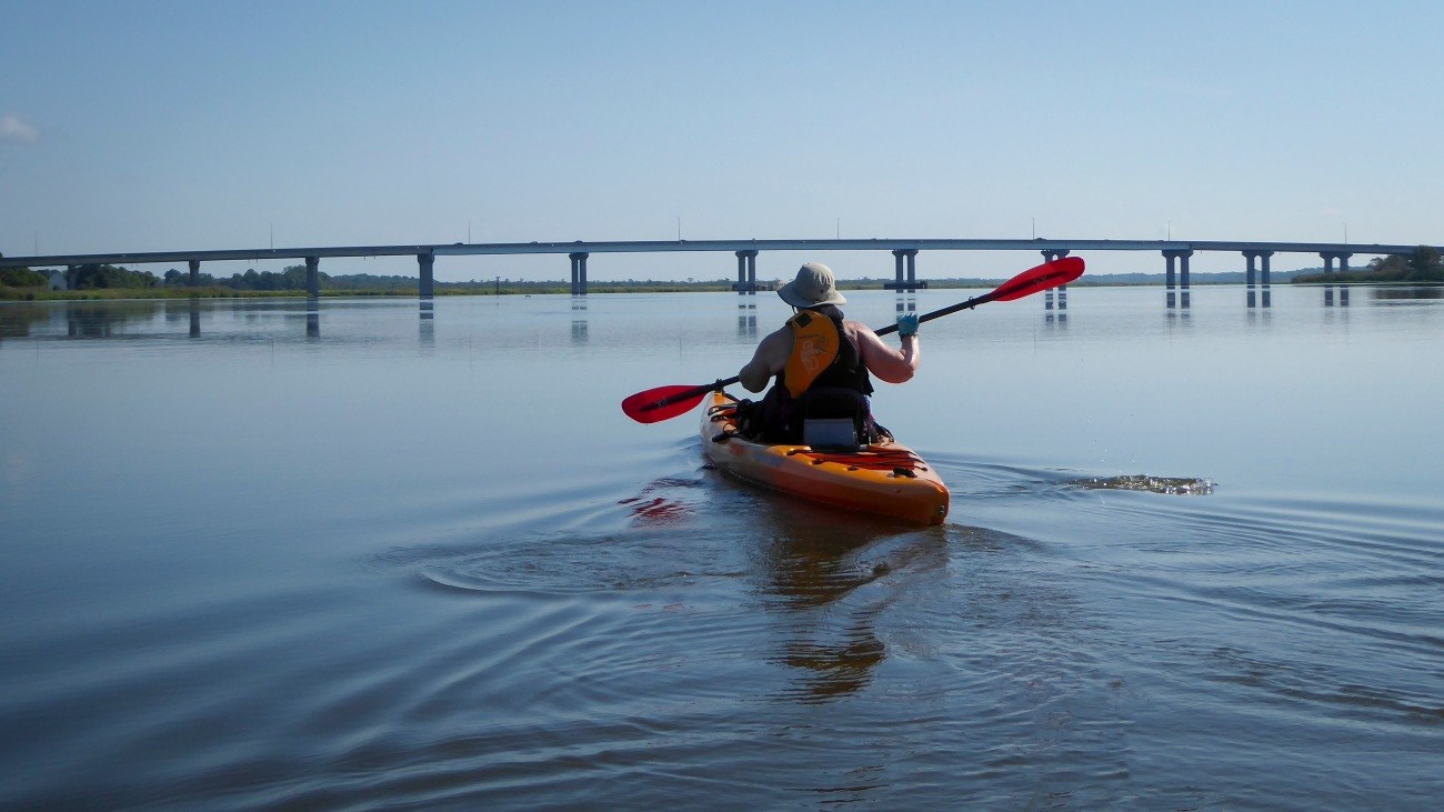 20180903_103053_Paddling toward the Rt 50 bridge over the Nanticoke